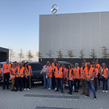 Mercedes gyár - csoportkép
