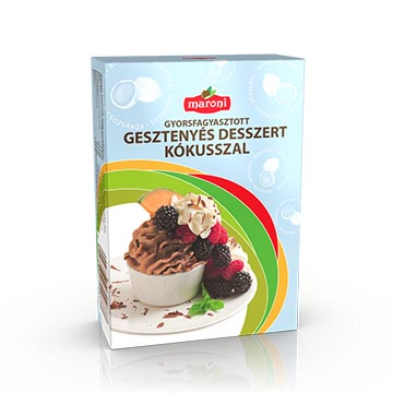 Maroni quick frozen chestnut dessert with coconut