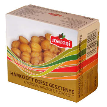 Maroni quick frozen pre-cooked, peeled whole chestnut
